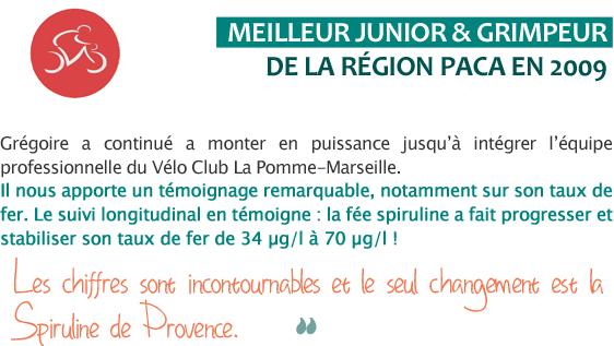 Spiruline Sport - Grégoire Tarride, jeune cycliste pro