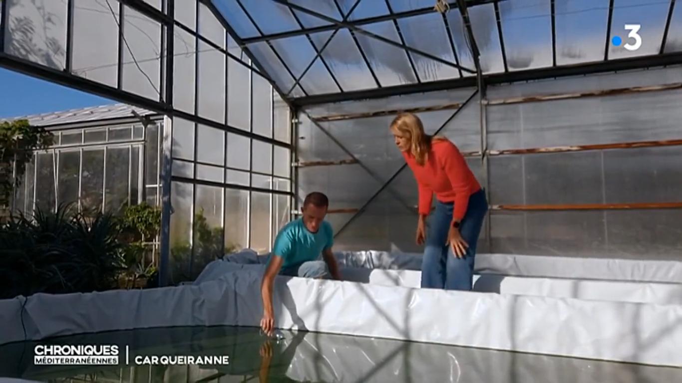Nathalie Simon découvre la production de Spiruline de Provence - France 3