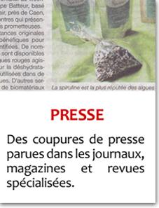 Articles presse et magazine spiruline