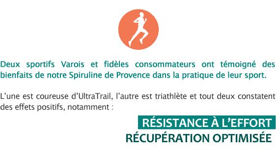 Témoignages spiruline et sport - reportage France 3 sur la Spiruline de Provence